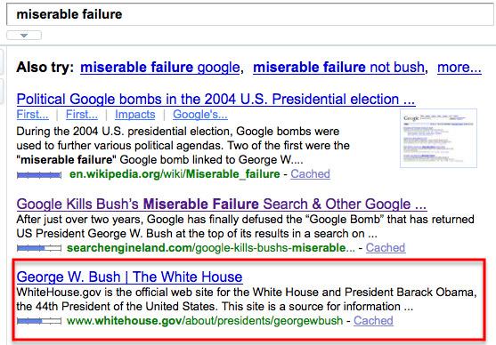 bush-yahoo-miserable-failure